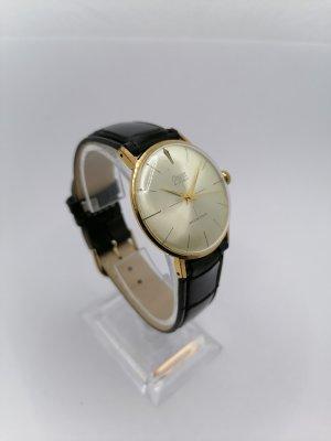 CONDOR Zegarek ze skórzanym paskiem czarny-złoto