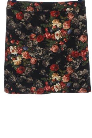 confezionato in italy Miniskirt black-red allover print elegant