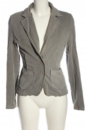 confezionato in italy Knitted Blazer light grey themed print casual look