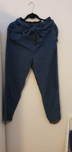 Workowate jeansy stalowy niebieski