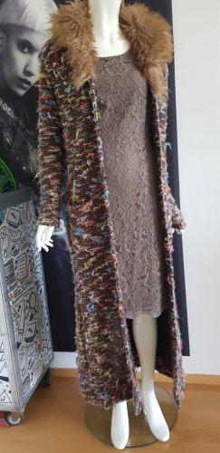 Conley strickmantel fellkragen S'Oliver Spitzen Kleid taupe small