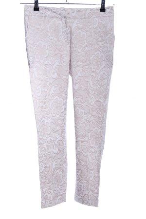 Conleys Pantalone a 7/8 grigio chiaro-marrone stampa integrale stile casual