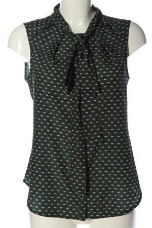 Conleys Sleeveless Blouse green-natural white allover print business style