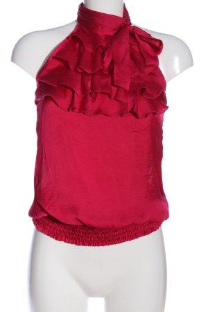 Conleys Blusa senza maniche rosso elegante