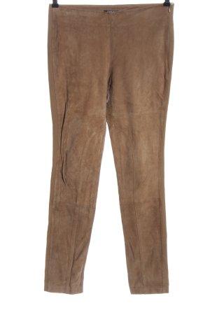 Conleys Black Pantalon en cuir brun style décontracté