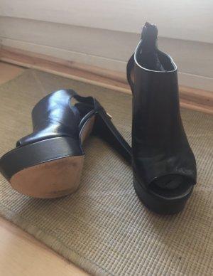 Conleys Black Sandalias de tacón con plataforma negro