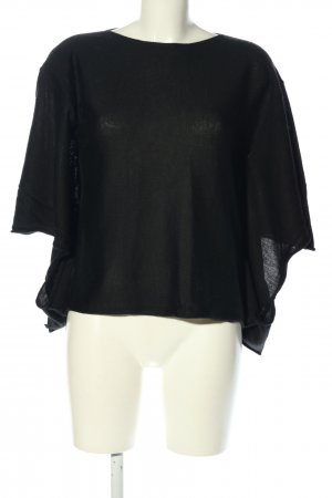 Conleys Black Strickshirt schwarz Casual-Look