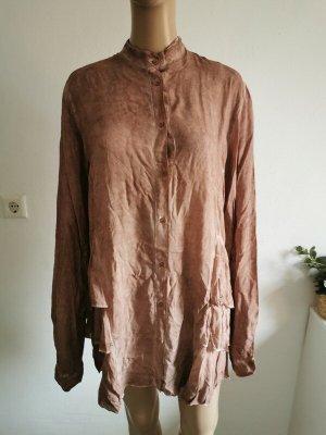 Conleys Camicetta a maniche lunghe color cammello-beige Viscosa