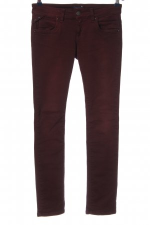 Conleys Blue Lage taille broek rood casual uitstraling