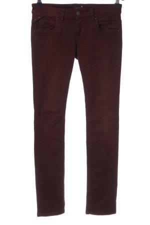 Conleys Blue Pantalone a vita bassa rosso stile casual