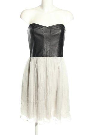 Conleys Sukienka gorsetowa czarny-w kolorze białej wełny Elegancki