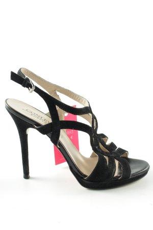 Conleys High Heel Sandaletten schwarz Casual-Look