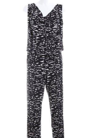 Conleys Jumpsuit schwarz-weiß Allover-Druck Casual-Look