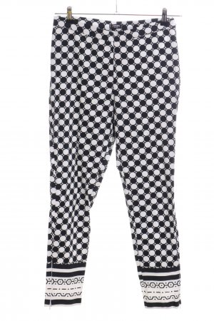 Conleys Peg Top Trousers black-white allover print casual look