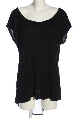 Conleys Kurzarm-Bluse schwarz Casual-Look