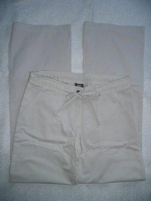 Conleys lässige Hose Flared Pants mit Tunnelzugband hell khaki beige Gr 38