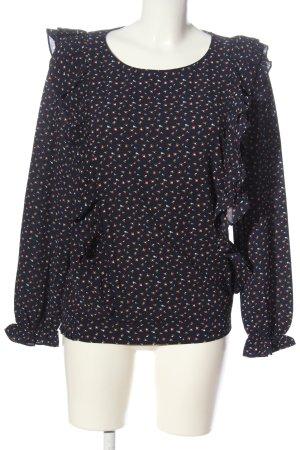 Conleys Langarm-Bluse abstraktes Muster Business-Look