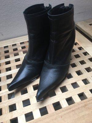Conleys Leder Stiefeletten Ankle Boots schwarz Größe 40