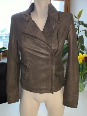 Conleys Leather Jacket grey brown leather