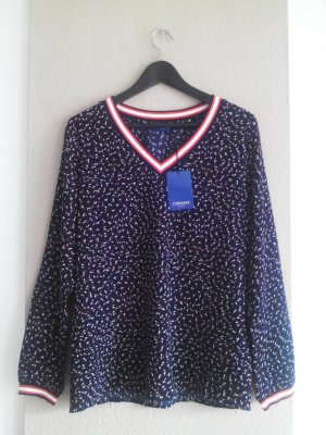 Conleys leichtes gemustertes Sweatshirt in marineblau, Größe 36 oversize, neu