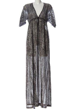 Conleys Maxi abito grigio chiaro-nero motivo astratto stile casual