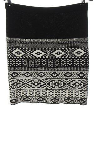 Conleys Miniskirt black-white graphic pattern casual look
