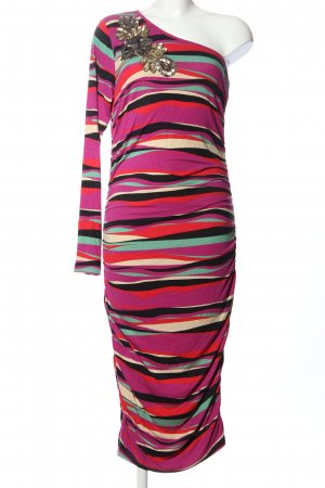 Conleys One Shoulder Dress striped pattern extravagant style