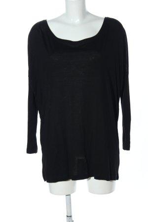 Conleys Oversized Pullover schwarz Business-Look