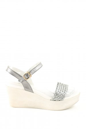 Conleys Platform High-Heeled Sandal silver-colored-natural white casual look