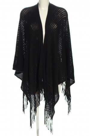 Conleys Poncho schwarz Casual-Look