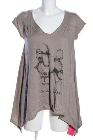 Conleys Print-Shirt braun Motivdruck Casual-Look