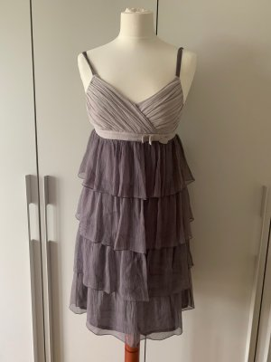 Conleys Sukienka typu babydoll bladofiołkowy-szaro-fioletowy Jedwab