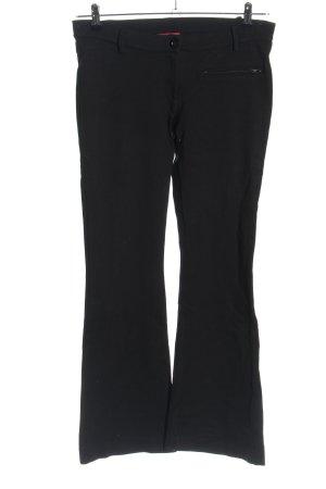 Conleys Pantalone a zampa d'elefante nero stile casual