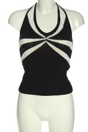 Conleys schulterfreies Top schwarz-weiß Casual-Look