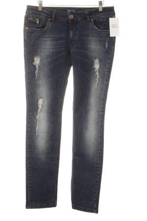 Conleys Jeans skinny blu scuro Tessuto misto