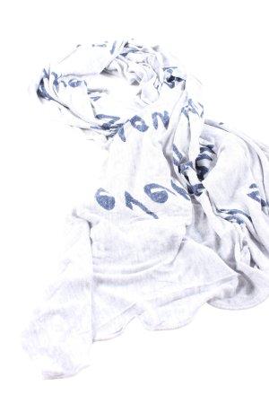 Conleys Zomersjaal lichtgrijs-blauw gestippeld casual uitstraling