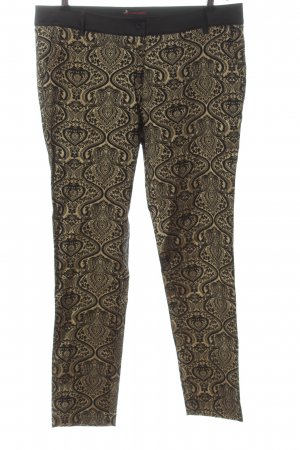 Conleys Stoffhose creme-schwarz abstraktes Muster Casual-Look