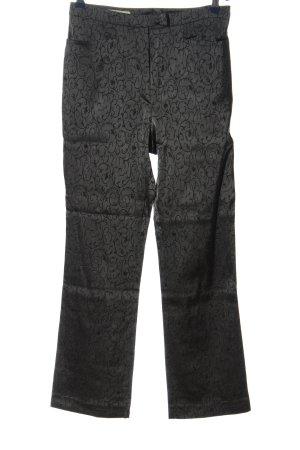 Conleys Pantalone jersey nero-grigio chiaro stampa integrale stile casual