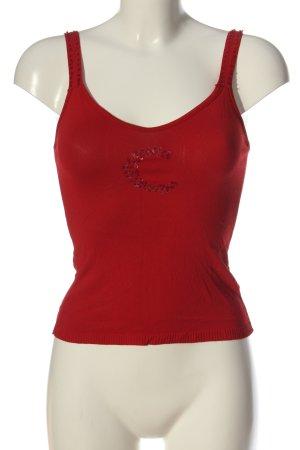Conleys Top lavorato a maglia rosso stile casual