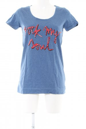 Conleys T-Shirt blue-red flecked casual look