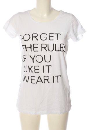 Conleys T-Shirt weiß Schriftzug gedruckt Casual-Look
