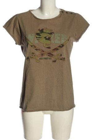 Conleys T-shirt marrone-cachi Motivo mimetico stile casual