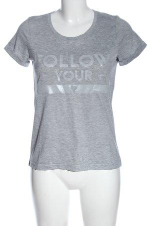 Conleys T-shirt grigio chiaro puntinato stile casual