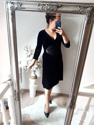 Connected Apparel Abendkleid samt schwarz 38 (10) neu