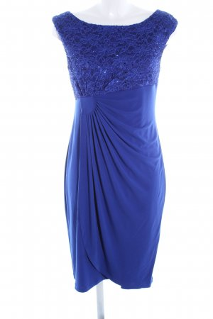 Connected Apparel Stretchkleid blau Blumenmuster extravaganter Stil