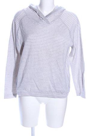 Connemara Kapuzenpullover hellgrau-weiß Streifenmuster Casual-Look