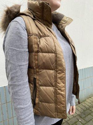 Cinque Hooded Vest light brown-brown