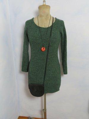 Vintage Vestido de lana verde bosque
