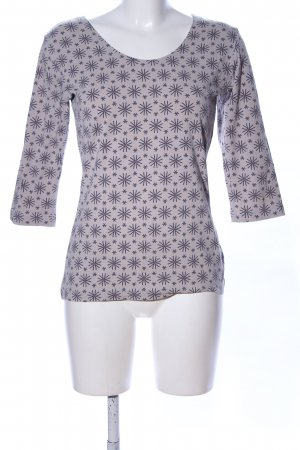 Consequent Longsleeve hellgrau-lila Allover-Druck Casual-Look
