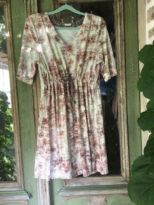 Container Sukienka dresowa ciemnoczerwony-w kolorze białej wełny